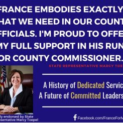 Marcy Toepel Endorsement